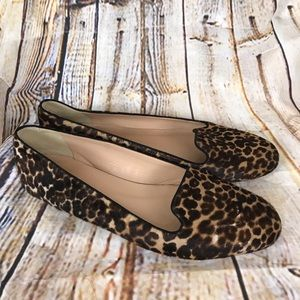 J. Crew Sophie Calf Hair Animal Print Loafers 10